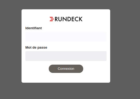 Rundeck login